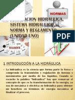 Instalacion Hidraulica, Sistema Hidraulico, Norma y Reglamento