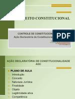 Aula8 Controle de Constitucionalidade - Acao Declaratoria de Constitucionalidade