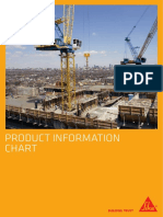 SIKA Product Information Chart