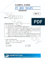 Jee Main 2019 Chemistry Sample Question Paper II