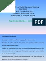 LEU4202 Oral Presentation for the 3rd December 2018
