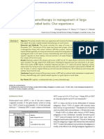 Role of Primary Chemotherapy in Management of Larg
