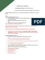 GCSB - Exam 1 Study Guide