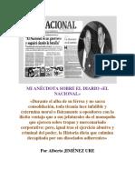 Anécdota Sobre El Diario El Nacional