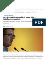 Vox Exigirá Medidas a Cambio de Apoyar Al PP y Ciudadanos en Andalucía _ España _ EL PAÍS