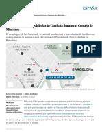 Barcelona_ Más de 9.000 Policías Blindarán Cataluña Durante El Consejo de Ministros _ España _ EL PAÍS