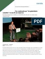 """Víctor González_ El Vicepresidente de Vox, Condenado Por """"Irregularidades Contables"""" en Una de Sus Empresas _ España _ EL PAÍS"""