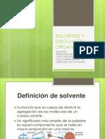 solventes y dispersantes organicos