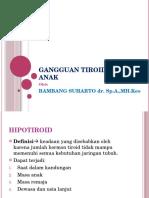 Ganggauan tiroid Pada Anak