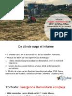 Presentacion Informe NNAA Minas y Migración