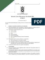 SPB065 - Schools (Arts Education) (Scotland) Bill 2018