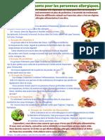 6 groupes d'aliments pour les personnes allergiques.