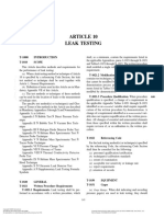 Article 10 Leak Testing