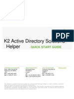 K2 Active Directory Solutions Helper - Quick Start