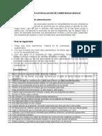 Inventario de Autoevaluacion de competencias