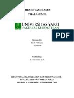 Farah - Referat Thalassemia