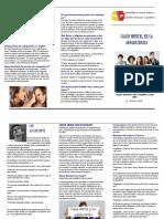 Presentacion trastornos piscologicos en la adolescencia