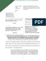 Motion to dismiss in City of Camden et al. v. Victor Urban Renewal et al.