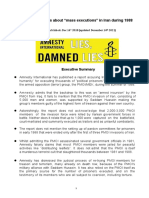 Amnesty International's Lies About Mass Executions in Iran in 1988