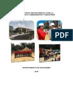 Estrategia Departamental de Respuesta a Emergencias 2018