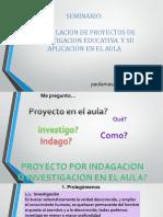 Capacitacion en investigacion educativa