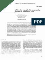Evaluación de tres fórmulas fórmulas precipitación-escorrentía, en la cuenca del río Achibueno, Chile