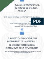 Renta Básica Universal Para Guatemala. Hugo Beteta