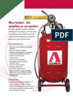 101 Pressurized Dispenser Spa(e)