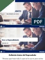 Sesion 01 Emprendimiento PRODEX - Emprender Si o No