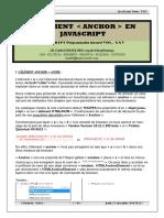 L'Element Anchor en JavaScript
