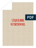 01 l'Equilibre Nutritionnel