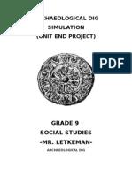 Archaeological Dig Simulation