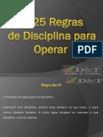 25 Regras de Disciplina Para Operar