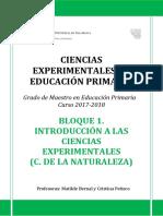 Bloque 1. Introducción a Las Ciencias Experimentales