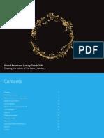 Delloitte Global Powers of Luxury Goods