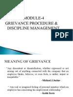 GRIEVANCE PROCEDURE & DISCIPLINE MNAGEMENT
