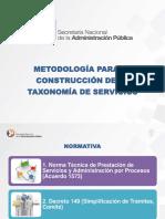 Anexo 12 Presentacion de La Metodologia Para La Construccion de La Taxonomia de Servicios Institucionales