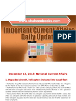 Day by Day Current Affairs (December 13, 2018) MCQs for CSS, PMS, NTS