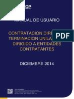 Contratacion Directa Terminacion Unilateral Entidades Contratantes