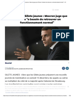 En DIRECT - Gilets Jaunes _ Macron Juge...Rouver Un Fonctionnement Normal_ - LCI