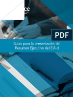 Guias Para La Presentacion Del Resumen Ejecutivo Del EIA d
