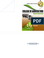 College of Agriculture Manual