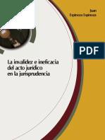 La Invalidez e Ineficia Del Acto Jurídico en La Jurisprudencia