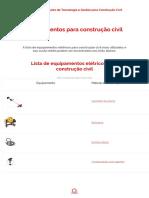 Lista de Equipamentos Para Construção Civil