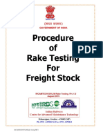 Pamphlet on Rake Testing Procedure for Freight Stock