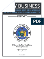 NYS Attorney General Fishy Business Report