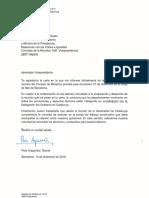 Carta del vicepresident Aragonés a Carmen Calvo