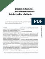 Impugnacion a Actos Administrativos