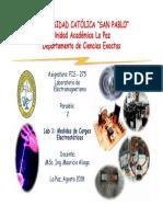 Lab 1 Medidas de Cargas Electrostaticas Fis 275 2 2018