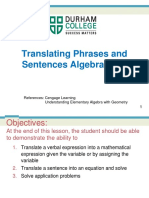 lesson 7 - translating phrases and sentences algebraically